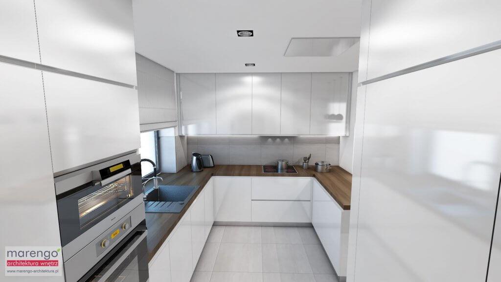 Projekt wnętrza kuchni Głogoczów