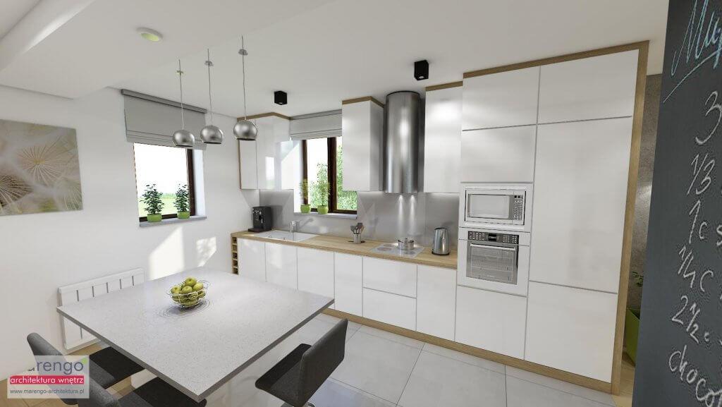 Projekt wnętrza kuchni Kraków