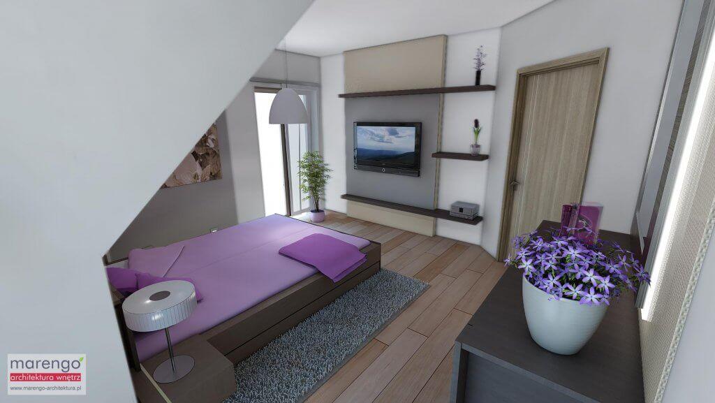Aranżacja wnętrza sypialni pod Krakowem