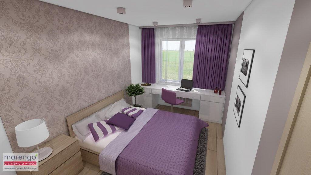 Aranżacja wnętrza sypialni w Krakowie